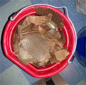 Cardboard used for mushroom spawn