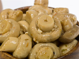 marinated mushrooms for an antipasto plate