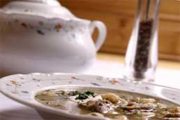 Chicken and mushroom soup recipe.