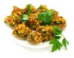A vegetarian stuffed mushroom recipe